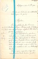 Brief Lettre - Burgemeester Eeckhout - Blyan  Leupegem - Naar Kadaster 1921 + Brief Met Antwoord - Old Paper