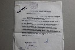 Demande Admission En Franchise Mobilier, Consulat De France à Alep (Syrie), 1968 - Collections