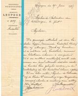 Brief Lettre - Gemeente Leupegem - Naar Kadaster 1927 + Brief Met Antwoord - Old Paper