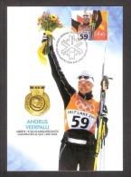 Estonia 2002 Stamp Maxicard Andrus Veerpalu Olympic 2002 Winner Mi 434 - Winter 2002: Salt Lake City