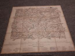 Carte Entoilée Pas De Calais  ST OMER  LUMBRES DESVRES FRUGES   TIRAGE DE 1890 - Cartes Géographiques