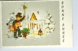 CP Bonne Année 1965 Maison Sous Neige, Enfant Et Petit Cochon - Nouvel An