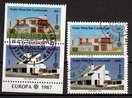 Cyprus(Turkije) Mi 205,206 A + C Europa Cept 1987 Gestempeld  Fine Used - Europa-CEPT