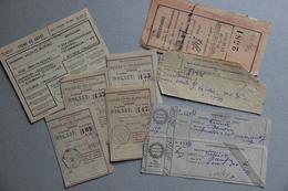 Récépissés Postes Et Télégraphes, Contributions Indirectes, Colis (1901-1939) - Collections