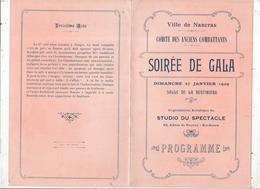Programme, Ville De NANCRAS,17, Comité Des Anciens Combattants ,soirée De Gala, 1929,  , 2 Scans ,frais Fr 1.55 E - Programmi