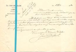 Brief Lettre - Notaris Ch. Van De Velde Lebbeke - Naar Kadaster 1930 + Brief Met Antwoord - Old Paper