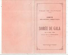 Programme, Ville De NANCRAS,17, Comité Des Anciens Combattants ,soirée De Gala, 1928,  , 2 Scans ,frais Fr 1.55 E - Programmi