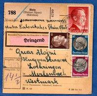 Colis Postal  -   Départ  Stein -  Affranchissement Mixte  -  27/2/1943 - Storia Postale