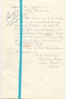 Brief Lettre - Theofiel Van Biesen Lebbeke - Naar Kadaster 1925 - Old Paper