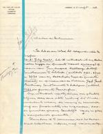 Brief Lettre - Notaris Van De Velde Lebbeke - Naar Kadaster 1928 + Brief Met Antwoord - Old Paper