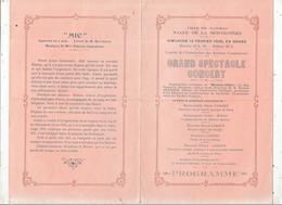 Programme, Ville De NANCRAS,17, GRAND SPECTACLE CONCERT, Salle De La Bertignère, 1928,  , 2 Scans ,frais Fr 1.55 E - Programmi