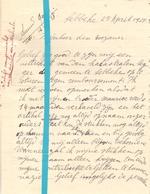 Brief Lettre - J. Blanquaert Lebbeke - Naar Kadaster 1928 + Brief Met Antwoord - Old Paper