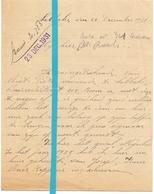 Brief Lettre - Pieter Van Riet Lebbeke - Naar Kadaster 1931 - Old Paper
