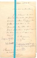 Brief Lettre - Ontvanger Lebbeke - Naar Kadaster 1920 - Old Paper