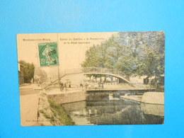 71 ) Montceau-les-mines - Canal Du Centre - La Passerelle Et Le Pont Tournant  : Année 1908 - EDIT : Boucoiran - Montceau Les Mines