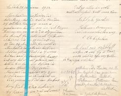 Brief Lettre - Pelleman - Cooreman Lebbeke - Naar Kadaster 1922 + Brief Met Antwoord - Old Paper