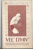 PARIS - BOXE -  VEL' D'HIV' Programme Du 6 Février 1944 - 4 Pages - Programmes
