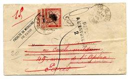 France - Lettre De 1895 Taxée 3 Fois (Taxe N°33), Avec Cachets Taxe, Refusé Et Retour à L'envoyeur - (B1234) - Marcophilie (Lettres)