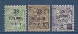 Monaco - YT N° 48 à 50 - Neuf Avec Charnière - 1921 - Monaco