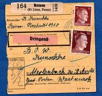 Colis Postal  -   Départ  Reisen  -- 16/9/1943 - Covers & Documents