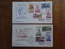 REPUBBLICA - Olimpiadi Roma 1960 - 2 F.D.C. Raccomandate Con Annullo Arrivo - 6. 1946-.. Repubblica