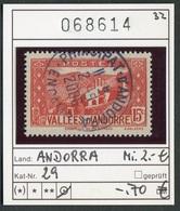 Andorra - Andorre -  Michel 29 - Oo Used Gebruik Oblit. - Französisch Andorra