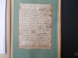 HISTOIRE.FAC-SIMILE.DEUX PAGES.LETTRE D'ABDICATION DE L'IMPERATRICE JOSEPHINE. - Old Paper