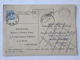 Carte Caisse Generale D'Epargne Envoyée Vers Tervuren  Puis Ottignies... Lot7 - Old Paper