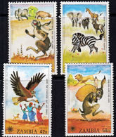 Zm0287  ZAMBIA 1979,  287-90  International Year Of The Child,  MNH - Zambie (1965-...)