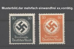 D.R.Dienst,143,177,xx,beide 50 Pfg Werte,Mi.26.- - Service