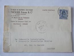 Demande De Prix Chez Vynckier à Gand Pour La Brosserie D'Iseghem-Izegem ... Lot7 . - Old Paper