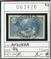 Andorra - Andorre -  Michel 94 - Oo Used Gebruik Oblit. - Französisch Andorra