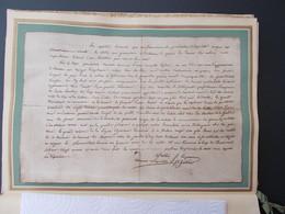 HISTOIRE.FAC-SIMILE.RAPPORT DE L'AUMONIER DE SAINTE HELENE SUR L'OUVERTURE DU CERCUEIL DE NAPOLEON. - Old Paper