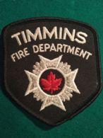 Vigili Del Fuoco Patch  Timmins Fire Department Canada - Pompieri