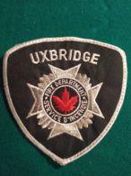 Vigili Del Fuoco Patch Uxbridge Service D'incendie Canada - Pompieri