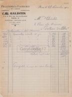 75 19 217 PARIS SEINE 1934 Pelleterie Fourrures C. GALISTIN Rue Des Petites Ecuries A THIOLET - France
