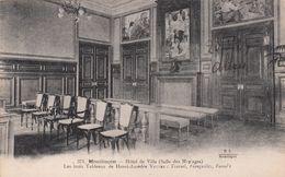 Cp , 03 , MONTLUÇON , Hôtel De Ville (Salle Des Mariages), Les Trois Tableaux De Henri-Amédée VETTER - Montlucon