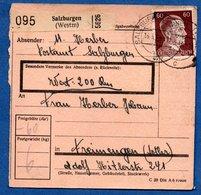 Colis Postal  -   Départ  Salzburgen  ( Château Sallins ) --  16/4/1944 - Allemagne
