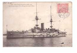 29 Brest Le Cuirassé Anglais Prince Georges En Rade De Brest Fêtes Franco Anglaises Juillet 1905 Cachet Brest Aout 1905 - Brest