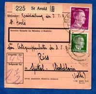 Colis Postal  -   Départ St Avold -  23/2/1943 - Duitsland