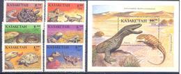 1994. Kazakhstan, Reptilies Of Kazakhstan, 6v + S/s,  Mint/** - Kazakhstan