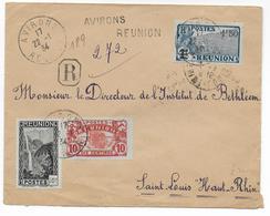 REUNION - 1934 - ENVELOPPE RECOMMANDEE De AVIRONS Pour ST LOUIS (HAUT-RHIN) - Réunion (1852-1975)