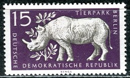 A12-49-8) DDR - Michel 553 - ** Postfrisch (A) - 15Pf  Tierpark Berlin, Spitzmaulnashorn - [6] République Démocratique