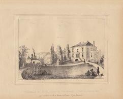 Gravure Ancienne Château De Belgique De Yve Gomzée Baron Cartier D'yve - Documents Historiques