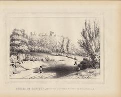 Gravure Ancienne Château De Belgique De Sautour Philippeville - Documents Historiques