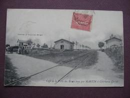 CPA 39 COURLAOUX GARE Café De La Villa Des Bécots Tenu Par MARTIN Trés RARE Et ANIMEE 1907  Canton LONS LE SAUNIER - France