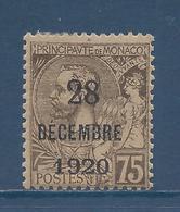Monaco - YT N° 49 - Neuf Avec Charnière - 1921 - Monaco