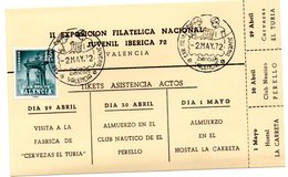 Tarjeta Tickets De Asistencia De Actos Matasellos Iberflora De 1972 - 1931-Hoy: 2ª República - ... Juan Carlos I