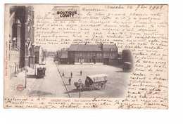 59 Aniche Rue Gambetta Cpa Carte Animée Cachet Oblitération Aniche 1902 - Autres Communes