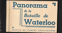 BELGIQUE WATERLOO PANORAMA DE LA BATAILLE  12 CARTES AVEC EXPLICATIONS - Walhain